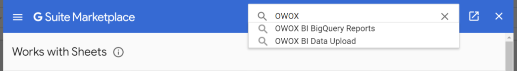 G suite Marketplace OWOX